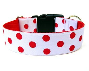 "Valentines Dog Collar 1.5"" Large Dog Collar"