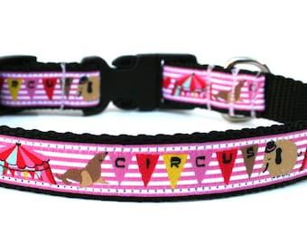 "Fun Dog Collar 5/8"" or 3/4"" Circus Dog Collar"