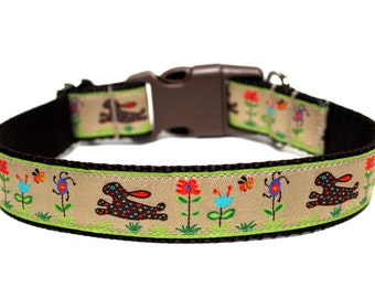 "Easter Dog Collar 1"" Bunny Dog Collar"