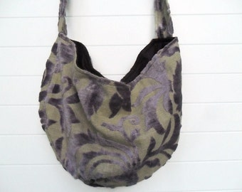Bohemian Gypsy Bag Purse Violet Purple Chenille