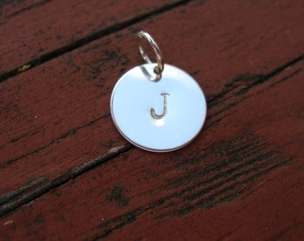 Personalized Initial Charm Silver Add A Charm Handstamped Personalized Silver Initial Charm FREE SHIPPING