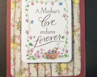 Handmade, Pretty Mother's Day Greeting Card