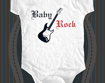 Baby Rock - funny saying printed on Infant Baby One-piece, Infant Tee, Toddler T-Shirts - Many sizes