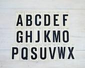 vintage letter stickers, alphabet