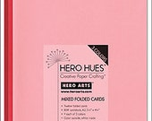 Hero Arts Blush Folded Cards PS568 Red Pink