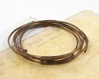 Copper Bangle Bracelets, Oxidized Copper Bangle, Rustic Bracelet Stack Metalwork Oxidized Metal Set of 5 |BC1-38