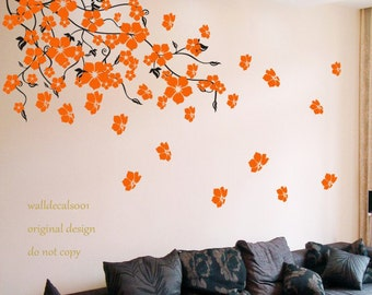 Floral wall decals blossom decals wall sticker -blossom vines
