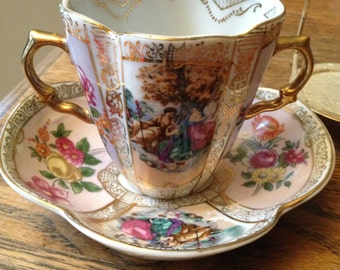 Ornate Vintage Japan Cup and Saucer