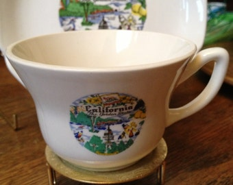 Vintage California Cup and Saucer Set