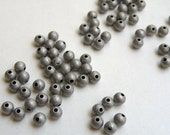 50 Round ball spacer beads antique silver vintage inspired beads 4mm 8251MB