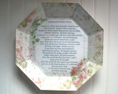 Do It Anyway by Mother Teresa Inspirational Quote Vintage Rose Decoupage Plate