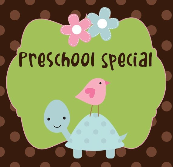 Any Toddler Blanket with Matching Pillow Case- 'Preschool Special'