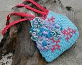 "Embellished Crochet Purse ""Aqua""  - PDF PATTERN"