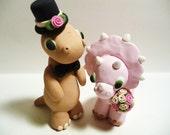 Dinosaur Wedding Cake Topper - Choose Your Colors