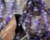 Natural Amethyst Irregular Nugget Faceted Beads Strand, 16-Inch Strand(G01138)