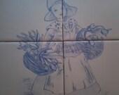 Delft inspiried Kitchen Tile Mural