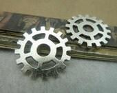 10 pcs 25mm Antique silver gears wheels sawtooth gearwheels Watch movements connectors links Charms Pendants fc99985