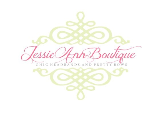Premade Logo for Photographers and Small Crafty Boutiques Shabby Chic Scroll