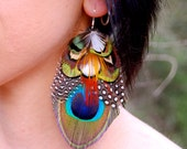 FOREST DREAMS Peacock Feather Earrings SALE