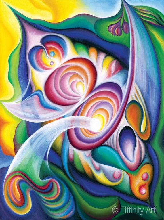 Fine Art Print 11 x 14 of Abstract Expressionist Painting, Inside the Revelry Divine, by Tiffany Davis-Rustam