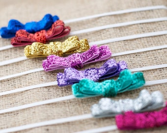 GLITTER Collection: Mini Glitter Bow Headband