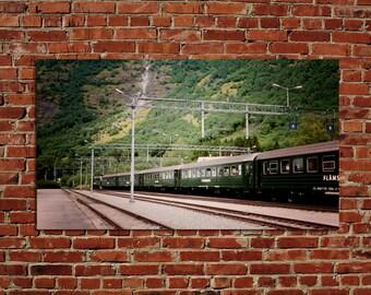 Flam Rail Line, Flambasa, Norway Bergen International Travel - 8x12 10x15 12x18 16x24  Fine Art Photograph Home Decor