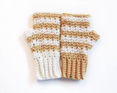 Chevron Mitts CROCHET PATTERN instant download - adult woman fingerless gloves texting
