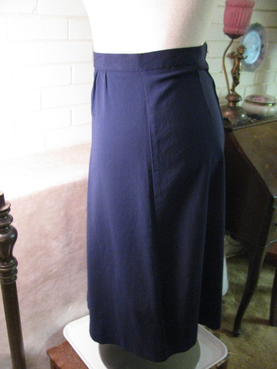 Vintage POLY WOOL WIGGLE Skirt Size 14