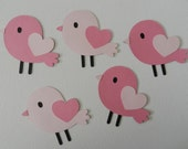 Lovebirds die cuts/Cupcake toppers/Centerpieces