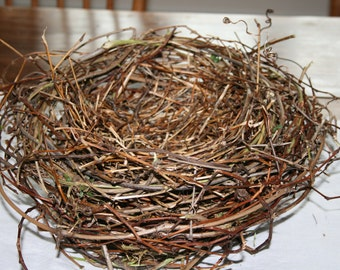 """LargeHandwoven Birds Nest Centerpiece - 13"""" Diameter by 6"""" High. Great Filled with Flowers for Woodland, Country, or Garden Wedding or Party"""