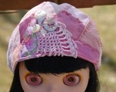 Blythe Pink crazy quilted hat