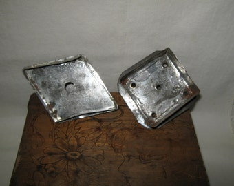 Antique Cookie Cutters Biscuit Cutters (Two) Diamond Square Flat Back Strap Handle