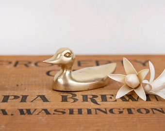 vintage brass duck figurine