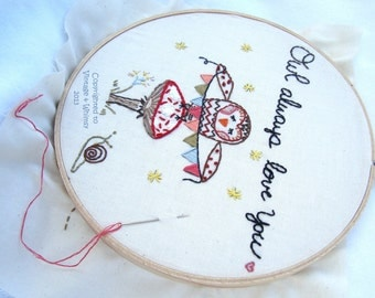 Owl Always Love You  Embroidery Sampler pdf Pattern Instant Download