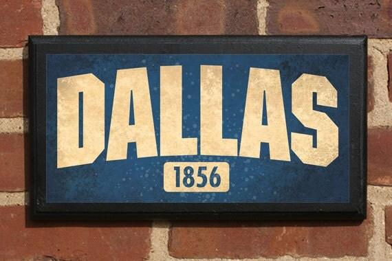 Dallas TX Wall Art Sign Plaque Gift Present Home Decor