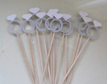 12 foodpicks diamond rings