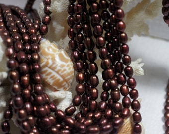 Freshwater Pearl Brown Rice 4.5 mm