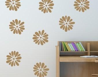 Flower Removable Vinyl Wall Decal - Pom Pom