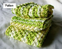 Knit Dishcloth Patterns Two Colors : Popular items for wash cloth pattern on Etsy