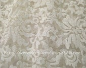 Ivory Embroidered Floral , Floral Lace Fabric for Wedding Gown Dress Design Birdal Veil-fabric by yard