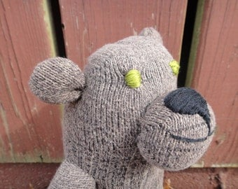 SALE! Handmade Stuffed Sock Animal Brown Bear Child Safe Toy