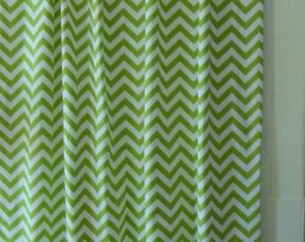 Chevron Lime Curtain Panels 25'' x 84''