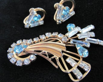 Vintage STAR Company 1/20 12K GF Gold Brooch and Earrings