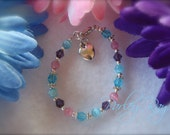 Parley Ray Care Bear Baby Girls Bracelet Crystals, Cat Eye Beads, Heart Charm
