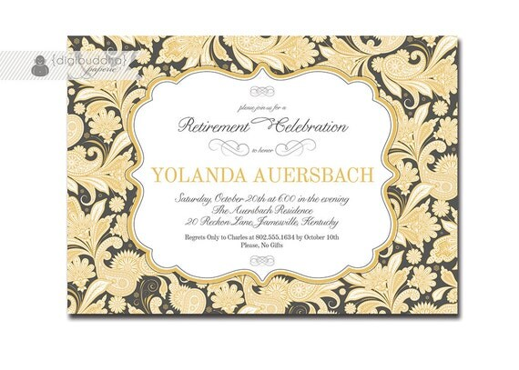 Elegant Retirement Invitations with nice invitations example
