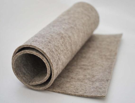 "Thick Wool Felt, 3mm, 100% wool, 30x50cm (12x20"") - Mother Rabbit beige"