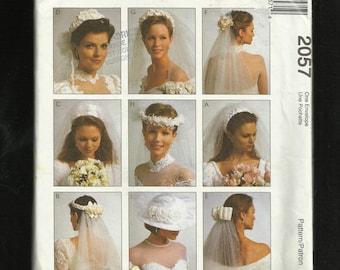 McCalls 2057 Bridal Veil Headpieces UNCUT