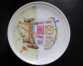 Plate, bone china, Gypsy Caravan, hand painted order for PjParrot