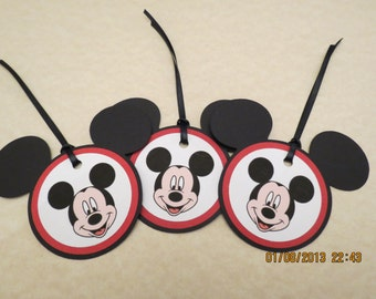 Mickey Mouse Favor Tags & Ties