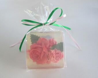 Wedding Tea Rose Soap Favors -  in custom colors, ooak, elegant, personalized,